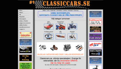 What Classiccars.se website looks like in 2021