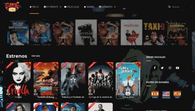 What Cine24h.net website looks like in 2021