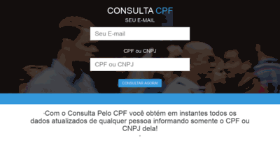 What Consultapelocpf.com.br website looks like in 2021
