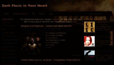 What Dark-music.org website looked like in 2013 (7 years ago)