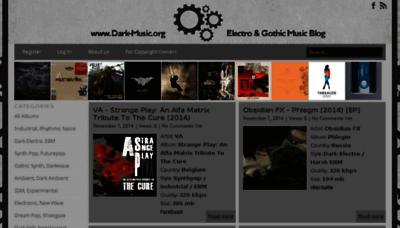What Dark-music.org website looked like in 2014 (6 years ago)