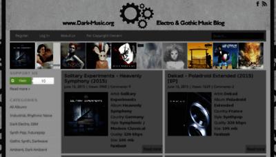 What Dark-music.org website looked like in 2015 (5 years ago)