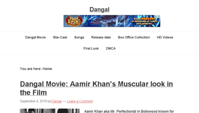 What Dangal.net website looked like in 2016 (4 years ago)