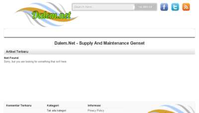 What Dalem.net website looked like in 2017 (4 years ago)