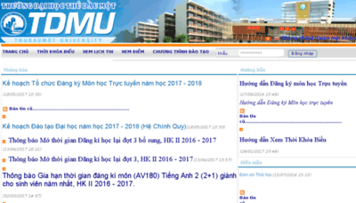 What Dkmh.tdmu.edu.vn website looked like in 2017 (4 years ago)