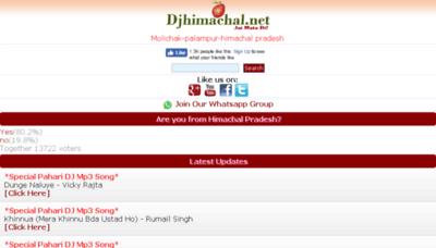 What Djhimachal.in website looked like in 2018 (3 years ago)