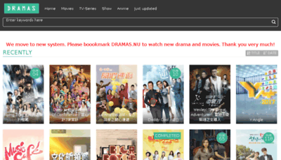 What Dramas.nu website looked like in 2018 (2 years ago)