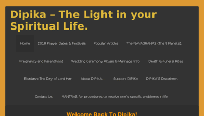What Dipika.org.za website looked like in 2018 (3 years ago)