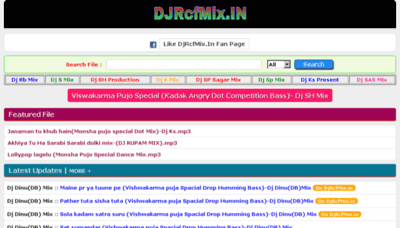 What Djrcfmix.in website looked like in 2018 (2 years ago)