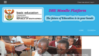 What Dbemoodle.dedicated.co.za website looked like in 2018 (2 years ago)