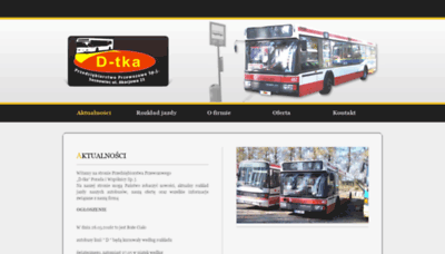 What D-tka.pl website looked like in 2018 (2 years ago)
