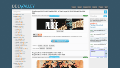 What Ddlvalley.net website looked like in 2018 (2 years ago)