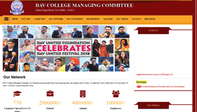 What Davcmc.net.in website looked like in 2019 (2 years ago)