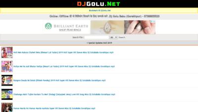 What Djgolu.net website looked like in 2019 (2 years ago)