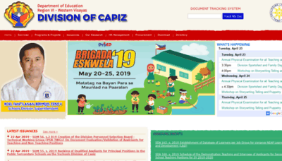What Depedcapiz.ph website looked like in 2019 (2 years ago)