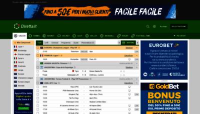 What Diretta.it website looked like in 2019 (2 years ago)
