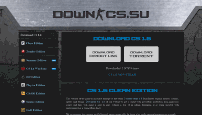 What Down-cs.su website looked like in 2019 (2 years ago)