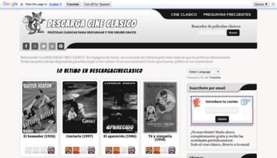 What Descargacineclasico.net website looked like in 2019 (2 years ago)