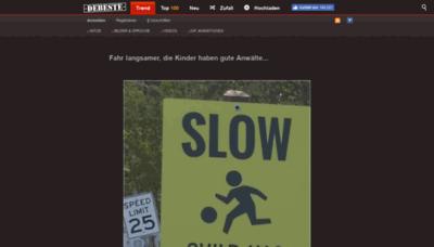 What Debeste.de website looked like in 2019 (2 years ago)