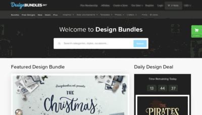 What Designbundles.net website looked like in 2019 (2 years ago)
