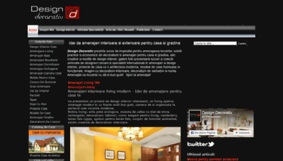 What Designdecorativ.ro website looked like in 2019 (1 year ago)