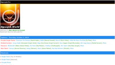 What Djpunjab.pro website looked like in 2019 (2 years ago)