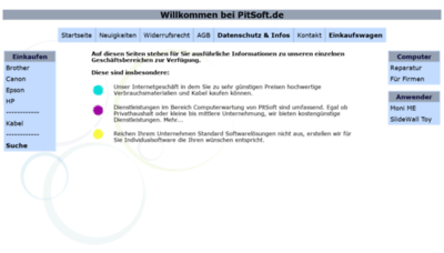 What Druckerpatronen-billiger.de website looked like in 2019 (1 year ago)