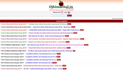 What Djhimachal.in website looked like in 2019 (1 year ago)