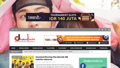 What Drakorindo.in website looked like in 2020 (1 year ago)