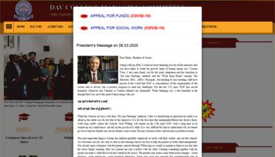 What Davcmc.net.in website looked like in 2020 (1 year ago)