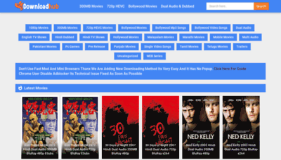 What Downloadhub.fans website looked like in 2020 (1 year ago)