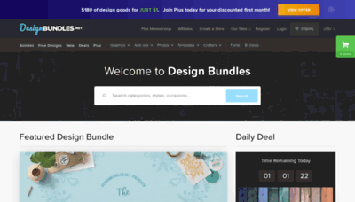 What Designbundles.net website looked like in 2020 (1 year ago)
