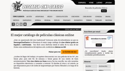 What Descargacineclasico.net website looked like in 2020 (1 year ago)