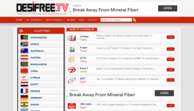 What Desifree.tv website looked like in 2020 (1 year ago)