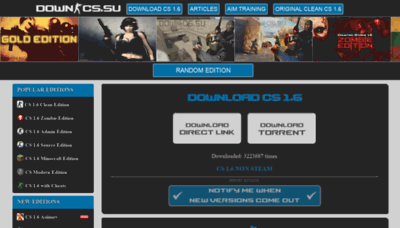 What Down-cs.su website looked like in 2020 (1 year ago)