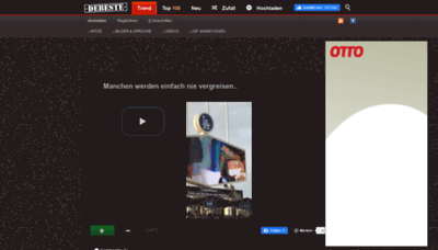 What Debeste.de website looked like in 2020 (1 year ago)