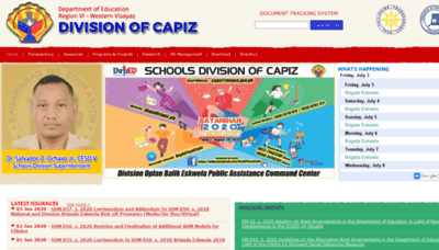What Depedcapiz.ph website looked like in 2020 (1 year ago)