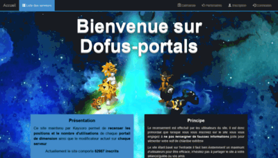 What Dofus-portals.fr website looked like in 2020 (1 year ago)