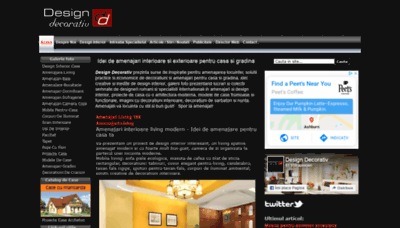 What Designdecorativ.ro website looked like in 2020 (1 year ago)