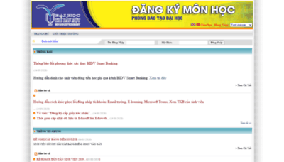 What Dkmh.tdmu.edu.vn website looked like in 2020 (This year)