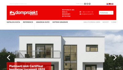 What Domprojekt.hr website looked like in 2020 (This year)
