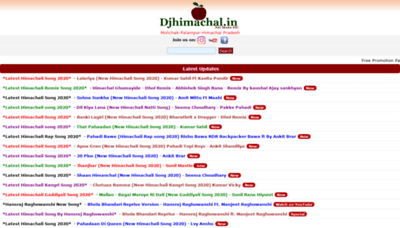 What Djhimachal.in website looked like in 2020 (This year)