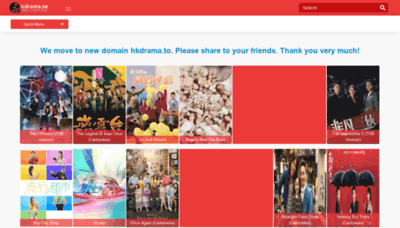 What Dramas.nu website looks like in 2021