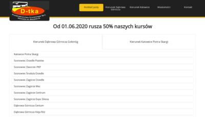 What D-tka.pl website looks like in 2021