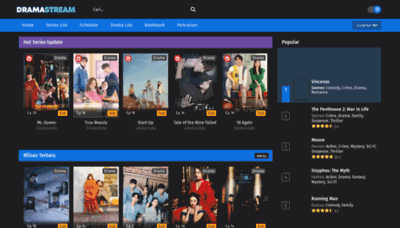 What Dramaid.tv website looks like in 2021