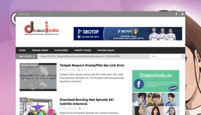 What Drakorindo.in website looks like in 2021