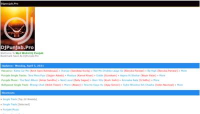 What Djpunjab.pro website looks like in 2021