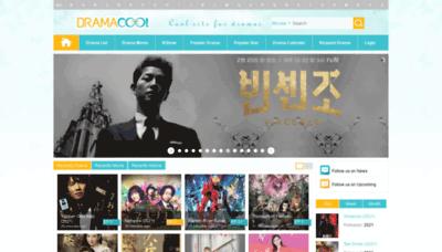 What Dramacool.video website looks like in 2021