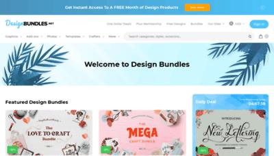 What Designbundles.net website looks like in 2021