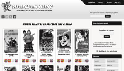 What Descargacineclasico.net website looks like in 2021